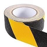 bestomz Ruban de sécurité antidérapant adhésif Ruban de signalisation jaune et noir (10cm x 5m)