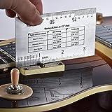 KKmoon String Action Ruler Gauge Tool in/mm for Guitar Bass Mandolin Banjo