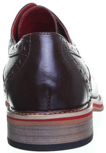 Justin Reece , Chaussures de ville à lacets pour homme Café CC