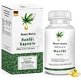 Hanföl Softgel Kapseln - hochdosiert | Premium Cannabis Sativa - 1000mg Tagesempfehlung | pflanzliches Omega 3 und -6 im optimalen Verhältnis 1:3 | Alpha Linolensäure (ALA) | Hanfsamenöl, made in DE