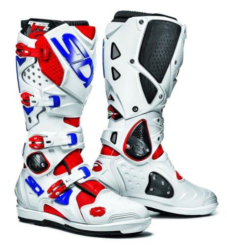 Sidi Crossfire SRS 2 stivali da moto rosso/bianco/blu