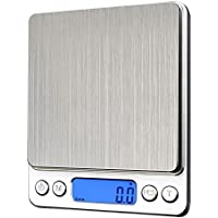 BlueBeach® Hohe Präzision Digitale Küchenwaage Kapazität (500g / 0.01g) Elektronisch Kochen Waage Kochwaage Lebensmittelwaage Briefwaage mit LCD Bildschirm