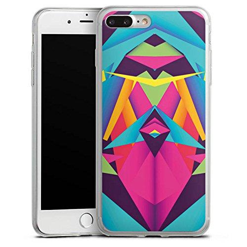 Apple iPhone 8 Slim Case Silikon Hülle Schutzhülle Friendly Color Dreiecke Muster Silikon Slim Case transparent