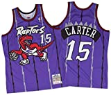 trikotjerseyNBA Vince Carter - Toronto Raptors #15 Trikot Jersey Stickerei Anzug Sommer Basketball Anzug Hemd, Trägershirt Fitness (XXL, Lila Vintage)