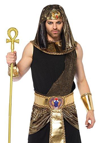 Leg Avenue 85605 5 teilig ägyptischer Gott, Männer Karneval Kostüm Fasching, XL, schwarz/Gold