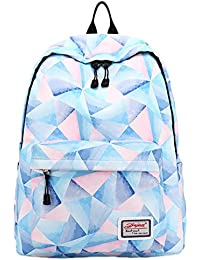 Amazon leaper bags wallets and luggage backpack for teens fashion geometric pattern backpack college bags women daypack travel bag by leaper fandeluxe Image collections