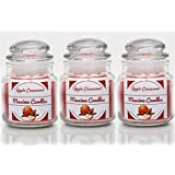 [Sponsored]Maxime Candles Apple Cinnamon Scented 2.6 Oz Highly Scented Jar Candle - Set Of 3 Jars | Valentine's Gift For Him/her | Candles For Decoration | Candles For Bedroom | Candles Decorations For Living Room