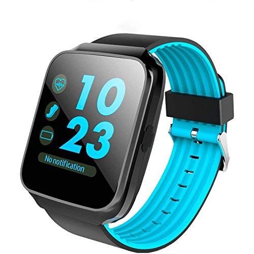 ZFNFN Bluetooth Smart Watch mit Kamera Touchscreen Smartwatch entsperrt Handy Uhr Smart Armbanduhr Sport Fitness Tracker für Android Handys IOS iPhone 7 7s Plus 6s, Blue