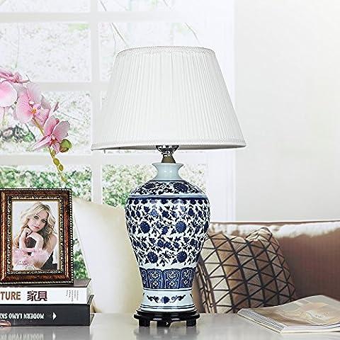 ZHIYUAN Keramik-Lampe Nachttischlampe Schlafzimmer Ideen, Geschenke/Zuhause dekorative Lichter/Größe: