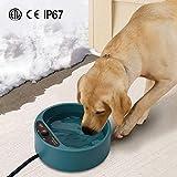 Lesypet Beheizbarer Napf für Hunde mit Anti-Biss-resistentem Kabel, 2L Hund Wasser Fütterung Schüssel, Verhindern Sie Das Einfrieren von Wasser im Winter