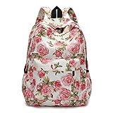 VJGOAL Damen Rucksack, Damen Männer Frischen Stil Rucksäcke Blumendruck Bookbags Weibliche Reise Schultaschen Studenten Rucksack (C)