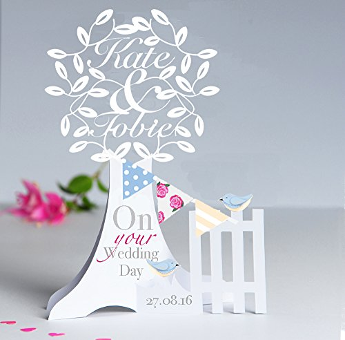 personalised-3d-popup-paper-cut-wedding-anniversary-engagement-card-with-two-love-birds-bunting-deta