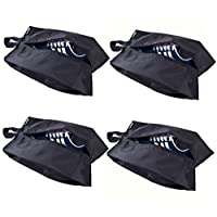 MISSLO 4 Portable Nylon Travel Shoe Bags with Zipper Closure