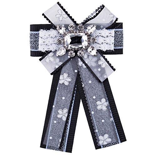 parkho New Elegantes Broschen Pin Fliege Kristall baumeln Pre Fliege Formale Hochzeit Party Fliege für Frauen Mädchen Student Hals Krawatte eh7905 Formale Krawatte