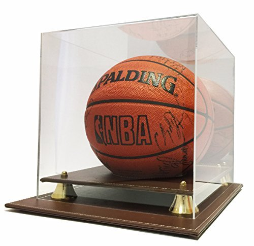 Max Protection Executive Leather Style Base Basketball Display Case by Max Protection - Executive-display