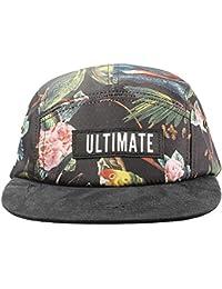 Accessoryo - Imprimer jungle chapeau de cinq panneau des femmes avec un pic brun