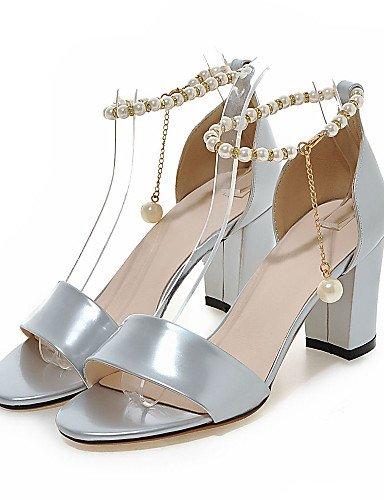LFNLYX Scarpe Donna-Sandali-Formale / Casual / Serata e festa-Tacchi / D'Orsay / Aperta-Quadrato-PU-Argento / Dorato golden