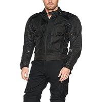 Australian Bikers Gear chaqueta Chicane de Cordura ligera y robusta con protecciones extraíbles en color Negro talla 2XL