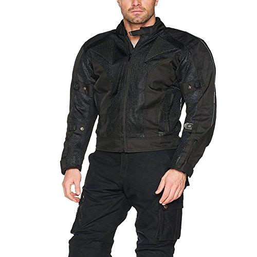 Mesh-motorrad-jacke (Australian Bikers Gear Schikane Sommer Mesh und wasserdichte Motorrad Jacke 6X l 132,1cm schwarz)