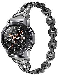 SplenSun para Michael Kors MK Bradshaw Reloj Inteligente de Acero Inoxidable de Repuesto Elegante Brillante con