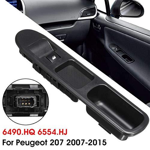 Jinxuny Pulsante di Controllo Interruttore Finestra di Comando Master Lato conducente per Peugeot 207 2007-2015,6 Pin Interruttore per Finestra Laterale passeggero
