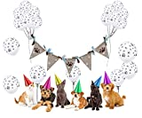 Funpa Banner Di Partito, Pennant Banner Animal Footprint Banner Banner Bunting Banner Con 24Pcs Party Balloon