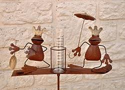 Rain gauge, frog king, garden plug, height: approx. 140 cm