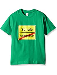 Coole-Fun-T-Shirts Unisex Kinder T-Shirt Schulanfang