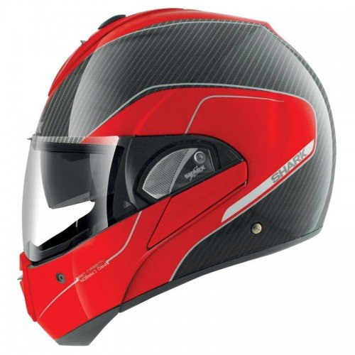 Shark Evoline Pro - Casco para moto, fibra de vidrio y carbono, talla