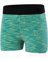 Mujer deportiva Yoga funcionamiento de panty elásticos pantalones cortos pantalones cortos de secado rápido 5094 3 , green , s