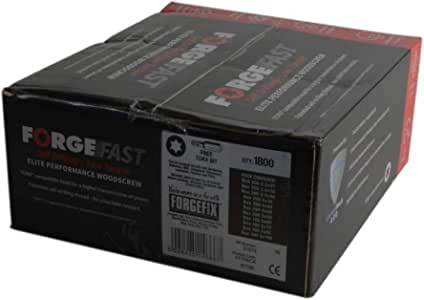 confezione da 200 Forgefix ForgeFast 3,0 x 12 mm Vite per legno compatibile con Torx ZY