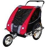 Remolque de bici para niños con kit de footing, color: rojo / gris - 30318-01