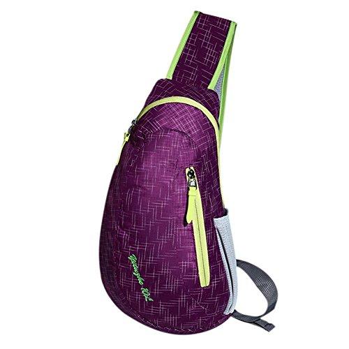 etopfashion Brand New Unisex Nylon wasserdicht Tasche Brust Herren Damen in Ausführung Umhängetasche diagonal Sporttasche Outdoor SACS DE GOLF, violett