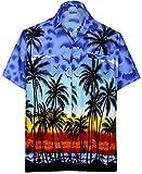 LA LEELA   Funky Camicia Hawaiana da Uomo   XS - 7XL   Maniche Corte   Tasca Frontale   Stampa Hawaiana   Estivo Estate...