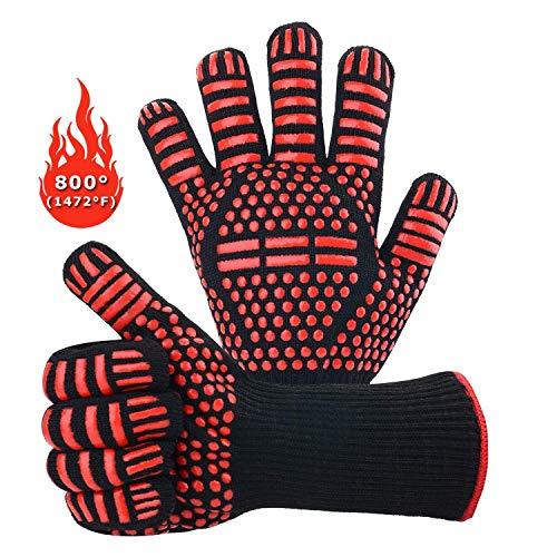 Guantes para barbacoa 1 par de guantes de silicona antideslizantes para cocina...