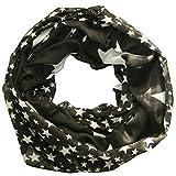 ACC leichter Sommer Sterne Loop Schal - tolle Farben (schwarz)