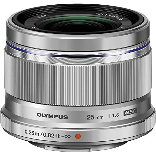 Olympus V311060BU000Objectif Interchangeable 25mm f1.8 pour Appareil Photo numérique Olympus/Panasonic Micro 4/3