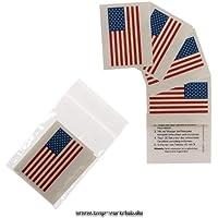 5 x Amerika Tattoo Fan Fahnen Set - America temporary tattoo Flag (5)