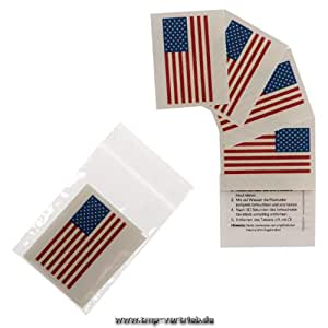 Amerika Tattoo Fahne 5er Fan Set - WM Fanartikel 2104 - America Flag