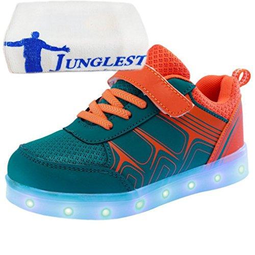 [Presente:piccolo asciugamano]JUNGLEST® Unisex High Top LED lampeggiante scarpe da ginnasti c16