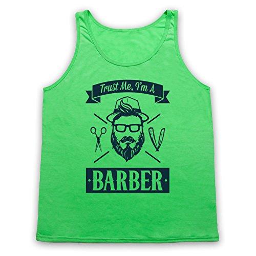 Trust Me I'm A Barber Funny Work Slogan Tank-Top Weste Neon Grun