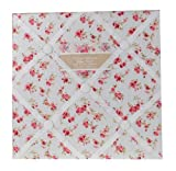 Vintage Shabby Chic Blumen Stoff Notiz Ankündigung Reminder Pinwand Dekoration rot