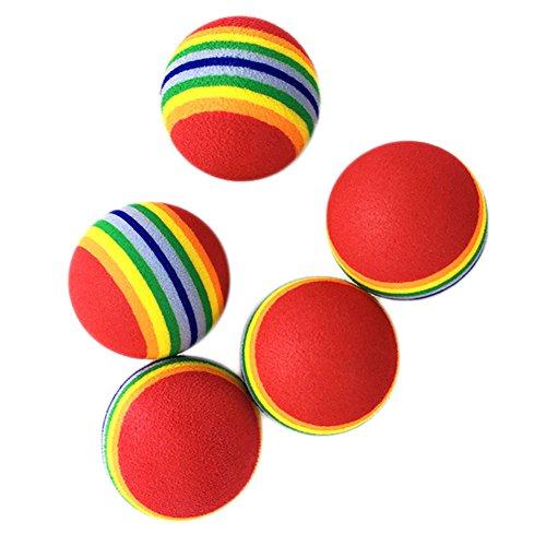Cupcinu Pet Rainbow Ball Tennisball Bunte Eva Weichschaum Ball Durable Biss Beständig Jagen Kauen Spielzeug für Katze Kleine Größe Haustier