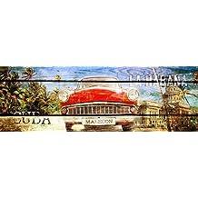 bastidor de cuña - imagen - Adamsky: Cuba Habana 50 x 150 cm Foto en lienzo