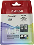 Canon PG510/ CL511 Ink Cartridges - Black/ Colour