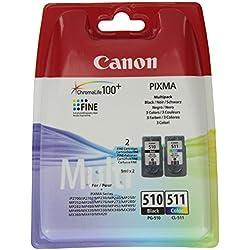 Canon - PG-510+CL-511 Multipack - Cartouche d'encre d'origine - Noir/Jaune/Cyan/Magenta - 220 Pages