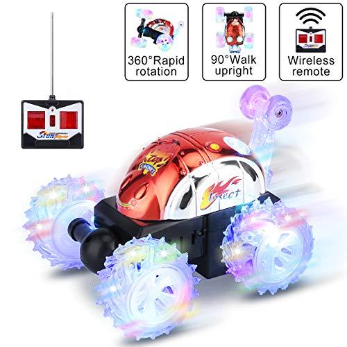 Gopark RC Car 360 ° drehbare Kinder Spielzeugauto, Ferngesteuertes Auto Rennwagen schnelles ferngesteuertes Auto für Kinder , Spielzeug für Jungen und Mädchen Rot