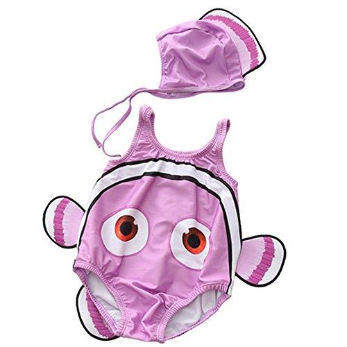 Boombee Jungen Badeanzug Kinder Badeanzüge Männer und Frauen Kinder Siamese Swimwear Clownfish (Farbe : Lila, Größe : L) (2-3 Alt Für Handwerk Jahre Halloween)