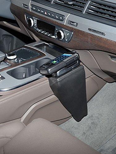 KUDA–Console telefonica (LHD) per Audi Q7dal 2015(Pelle sintetica nera)