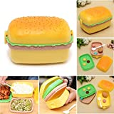 #3: Burger Shaped Kids Bento-Styled Lunch Box Durable Meal and Snack Packing